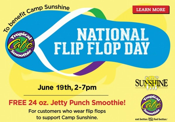 free jetty punch smoothie from tropical smoothie caf - Tropical Cafe 2015
