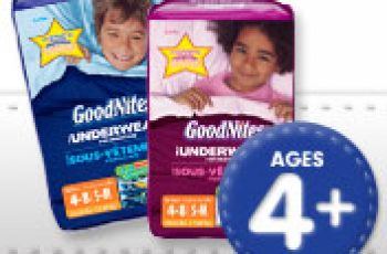 Free Goodnites Underwear Sample for Your Kids