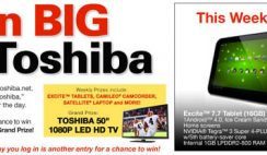 Sweepstakes: Weekly Prizes from Toshiba