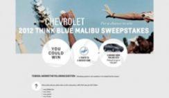 Sweepstakes: 2012 Think Blue Malibu Sweepstakes