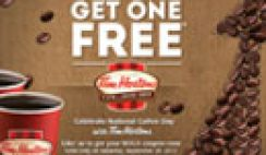 Buy 1 Free 1 Coffee from Tim Horton's Coupon