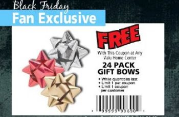 Free 24 Pack Gift Bows Coupon
