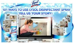 Sweepstakes: 101 Ways to Use Lysol Disinfectant Spray Contest