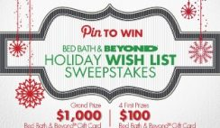 Bed Bath and Beyond's Holiday Wish List Sweepstakes