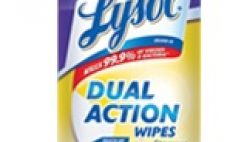 Free Lysol Dual Action Wipes Sample