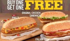 Buy One Get One Free Burger King Sandwich