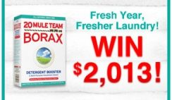 Purex's Fresh Year, Fresher Laundry Borax Sweepstakes