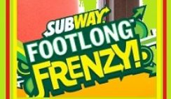 Subway's Footlong Frenzy Instant Win Game and Sweepstakes