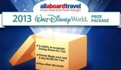 All Aboard Travel's 2013 Walt Disney World Prize Package Sweepstakes