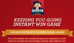 Quaker Oats' Keeping You Going Instant Win Sweepstakes