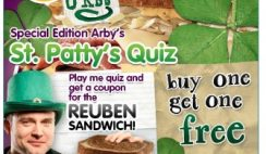 Arby's Buy One Get One Free Reuben Coupon