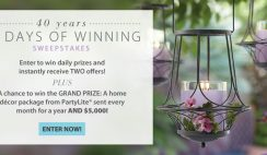 PartyLite's 40 Years, 40 Days of Winning Sweepstakes