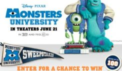 Disney Movie Rewards' Monsters University Sweepstakes