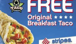 Free Stripes' Original Breakfast Taco Coupon