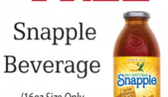 Free 16oz Snapple Drink