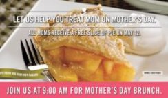 Free O'Charley's Pie on Mother's Day