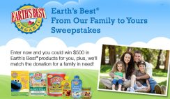 Kiwi Magazine's Earth's Best From Our Family to Yours Sweepstakes