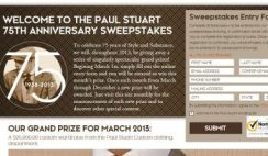 Paul Stuart's 75th Anniversary Sweepstakes