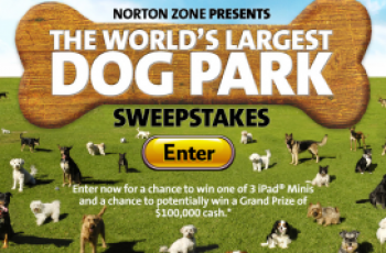 Norton Zone's The World's Largest Dog Park Sweepstakes