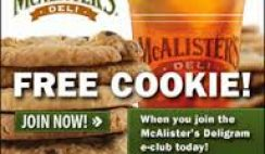 Free McAlister's Deli Cookie Coupon