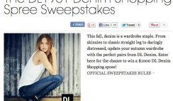 Elle Magazine's DL1961 Denim Shopping Spree Sweepstakes