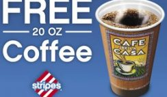 Free Coffee at Stripes Today!