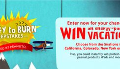 National Peanut Board's Energy to Burn Sweepstakes