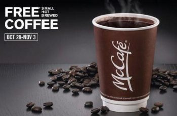 Free McCafe Coffee from Oct. 28-Nov.3