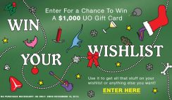 Urban Outfitters' Win Your Wishlist Sweepstakes