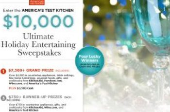 America's Test Kitchen's $10,000 Holiday Sweepstakes