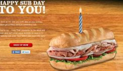 Free Medium Sub from Firehouse Subs on Your Birthday