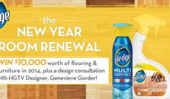 HGTV and Pledge's New Year Room Renewal Sweepstakes