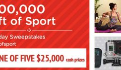 Sports Authority's $500,000 Gift of Sport Holiday Sweepstakes