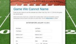 Paypal's Game We Cannot Name Sweepstakes