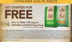 Free Nutro Natural Choice Dog Food Rebate