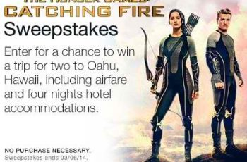 Amazon's The Hunger Games Catching Fire Sweepstakes