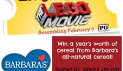 Barbara's Cereal's The LEGO Movie Giveaway Digital Sweepstakes