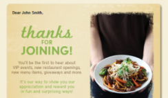 Free Meal from Noodles & Company