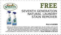 Free Seventh Generation Natural Laundry Stain Remover Sample