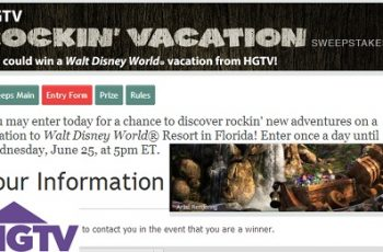 HGTV's Rockin Vacation Sweepstakes