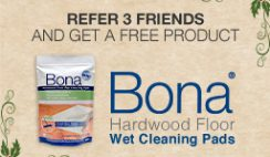 Free Bona Disposable Wipes