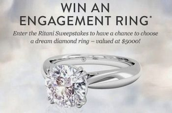 Ritani's Win A Diamond Engagement Ring in Platinum Sweepstakes