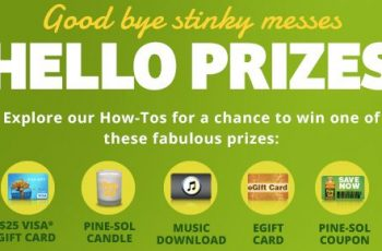 Pinesol's Digital Instant Win Sweepstakes