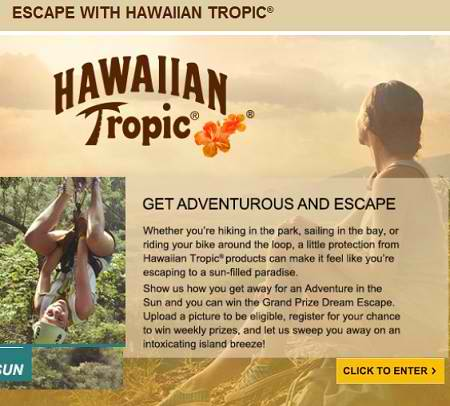 Escape-with-Hawaiian-Tropic-Sweepstakes