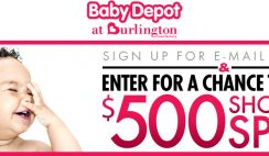Burlington Coat Factory's Baby Depot Shopping Spree Sweepstakes