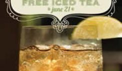 Free Iced Tea from La Madeleine Country French Cafe