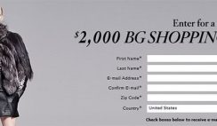 Bergdorf Goodman's $2,000 Promotional Gift Card Sweepstakes