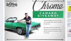 Havoline's Bad to the Chrome Camaro Giveaway Sweepstakes