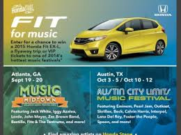 Honda Fit's 2014 Honda Stage at Music Festivals Sweepstakes