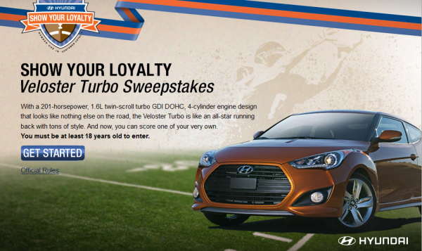 Hyundai's 2014 This Is Loyalty Sweepstakes